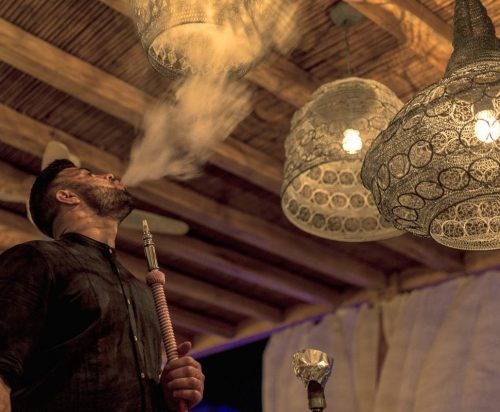 Authentic nargile experience at Shisha Bar in Ornos, Mykonos.