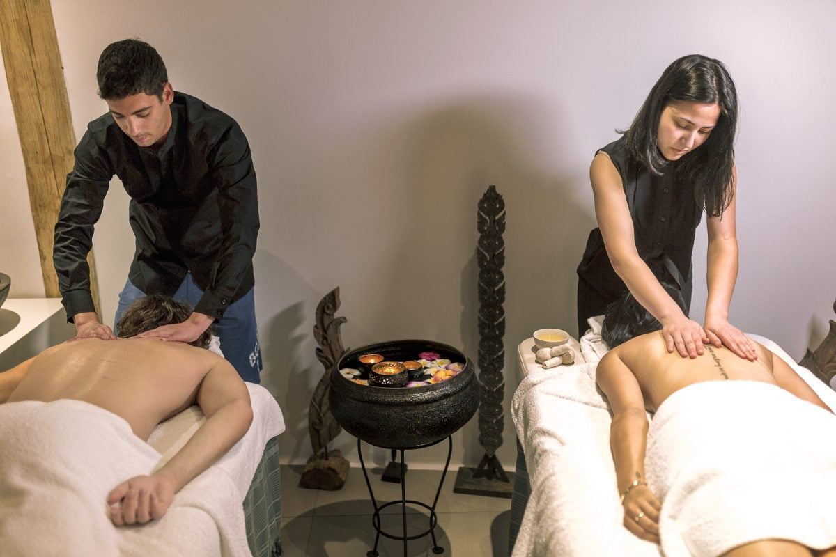 Guests can experience massage and body therapies.Choose their own therapist in Mykonos blanc Hotel